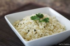 Cafe Rio's Lime Cilantro Rice!... So easy to make and would be a perfect side dish to any Mexican Meal!