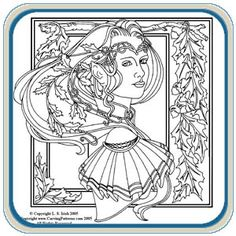 wood burning patterns free | Pixie And Elvin Queens Pattern Package - Classic Carving Patterns pattern packag, pattern free, woodburn, burn pattern, carv pattern