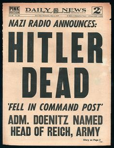Daily News cover - 16.May 1945