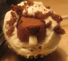 Groundhog Day cupcakes!