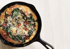 clam, chard, bacon pizza