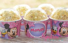 Minnie Mouse Bowtique Birthday Party-Snack Cups-Mini Popcorn Box-Set of 6 on Etsy, $9.40