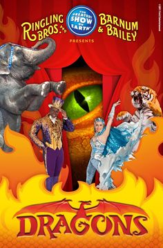 GIVEAWAY: WIN 4 Tix to Ringling Bros. and Barnum & Bailey's Barnum Presents DRAGONS - ENDS 11/7 http://ow.ly/qrTMD