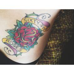 65 rose, rose tattoos
