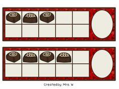 FREE Valentine's Day Chocolates - Ten Frame Match (1-10)
