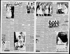 Fultz Quads in the August 25, 1956 edition of the Afro-American. Their  picture and a mention of them are in the center of the right page.