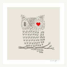 Owly Print from ilovedoodle on etsy