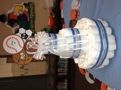 Sports Theme Baby Shower diaper cake