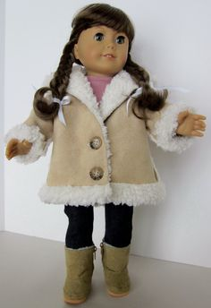 18 Inch Doll Clothes  - Shearling Hooded Jacket