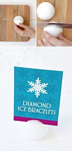 Frozen Party Snowball Sign Holders Tutorial at PagingSupermom.com #frozen