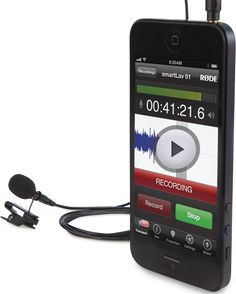RØDE smartLav lavalier microphone for smartphones and tablets - great for recording your podcasts on the road