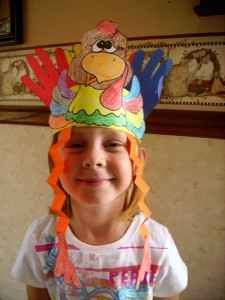 Thanksgiving Arts and Crafts  a great classroom project.  Imagine, a classroom of little turkeys.