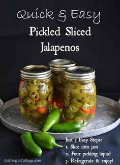 Quick & Easy Sliced Pickled Jalapenos - An Oregon Cottage