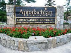 Appalachian State in Boone, NC