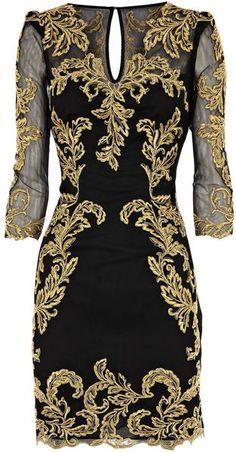 KAREN MILLEN Baroque Mesh Dress #josephine#vogel