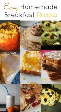 Easy Homemade #Breakfast Recipes