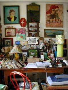 A busy creative space