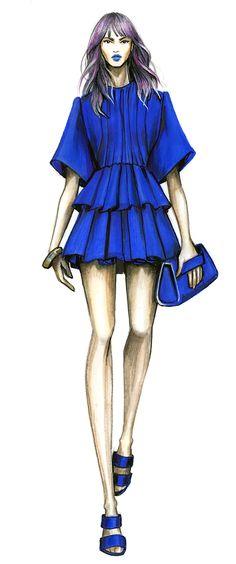 royal blue, fashionillustr
