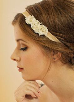 Flower Headband / Bridal Hair Accessory / Wedding