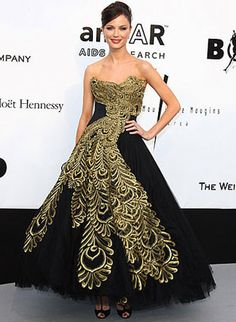 Georgina Chapman in one of her own Marchesa creations!
