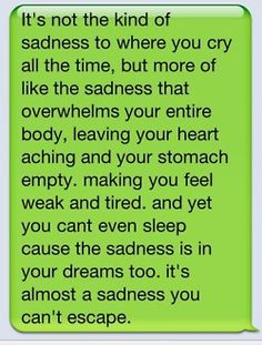 Depression, it's there, and when it ambushes you like this…man, it's awful.