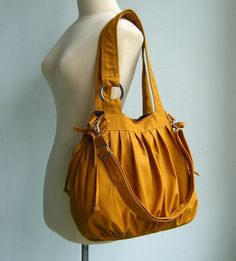 Mustard Canvas Bag