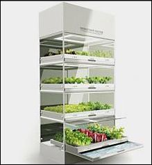 Future upscale homes might have the Kitchen Nano Garden built into the kitchen