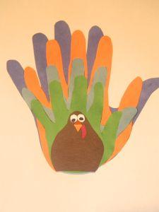 Family Hand Print Turkey