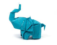 Elephant in the room No13 3D free style origami by JinniInTheLamp, $11.00