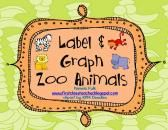 Label and Graph Zoo Animals product from First-Class-Teacher on TeachersNotebook.com