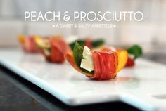 peach sweet and salty appetizer recipe