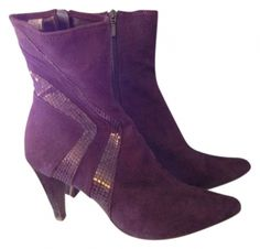 Deep Plum Boots ~ Awesome colour, cool design, but too small and tall