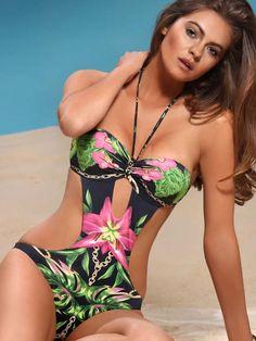 Love this print Jolidon Tropical Monokini 2014