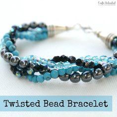 Twisted Bead Strand Style Bracelet  |  Crafts Unleashed