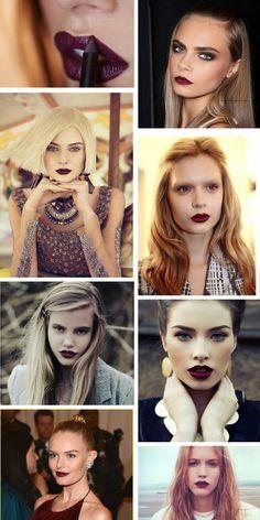lipsticks for blondes, red lipstick for blondes, burgundi lipstick, red wine lipstick, dark lipstick, lipstick inspiration, burgundy lipstick
