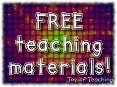 Free Teaching Materials from Joy of Teaching