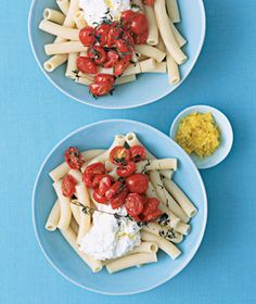 Roasted Cherry Tomato and Ricotta Pasta Salad recipe from realsimple.com #myplate