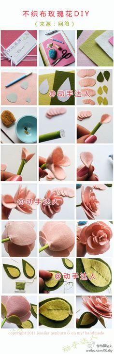DIY Rose di feltro