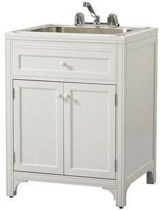 Martha Stewart Living™ Laundry Storage Utility Sink Cabinet  Satisfy All of Your Laundry Storage Needs with This Multifaceted Laundry Hamper  Item # 13633 $259