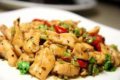 HCG Recipe - Basil Chicken Check ingredients