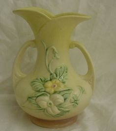 Hull Pottery - unusual yellow background