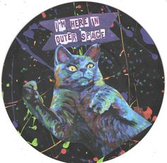 Outer Space / Famous CAT ART by TheEscapistArtist on Etsy, $6.00