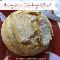 Sourdough Starter and Basic 3 (or 4) Ingredient Sourdough Bread Recipe