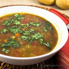 Black Bean Veggie Soup #MeatlessMonday