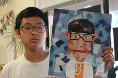torn collage self portraits awesome