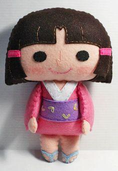 cute girl doll pattern