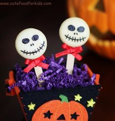 Halloween Cheese Pops by cutefoodforkids: Made with Babybel cheese, nori and black sesame seeds (