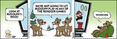 Rudolph wins! | Thatababy on GoComics.com #humor #comics #VideoGames