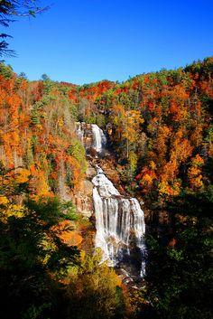 White Water Falls, Blue Ridge Mountains, US