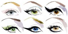 Eyeliner styles! I love wearing the one from the 2nd row in the middle :)